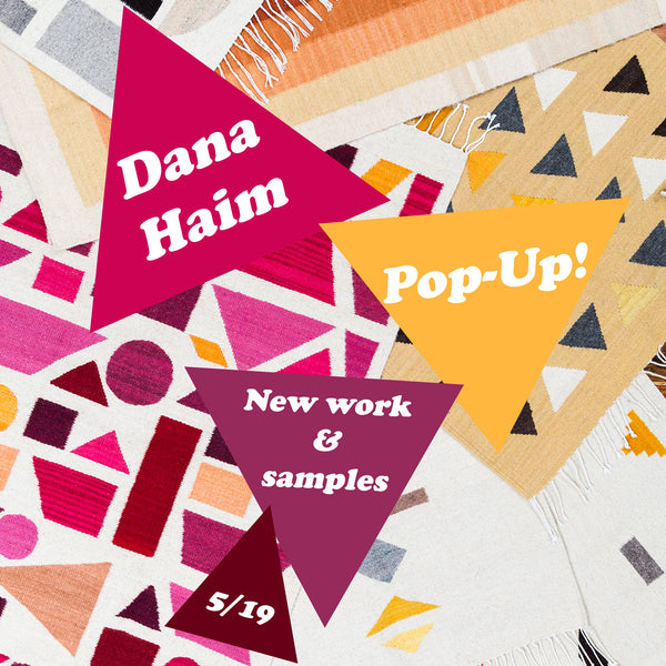 Textile Pop up with Dana Haim