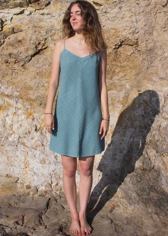 Capra Dress - Hatu // Mineral Blue