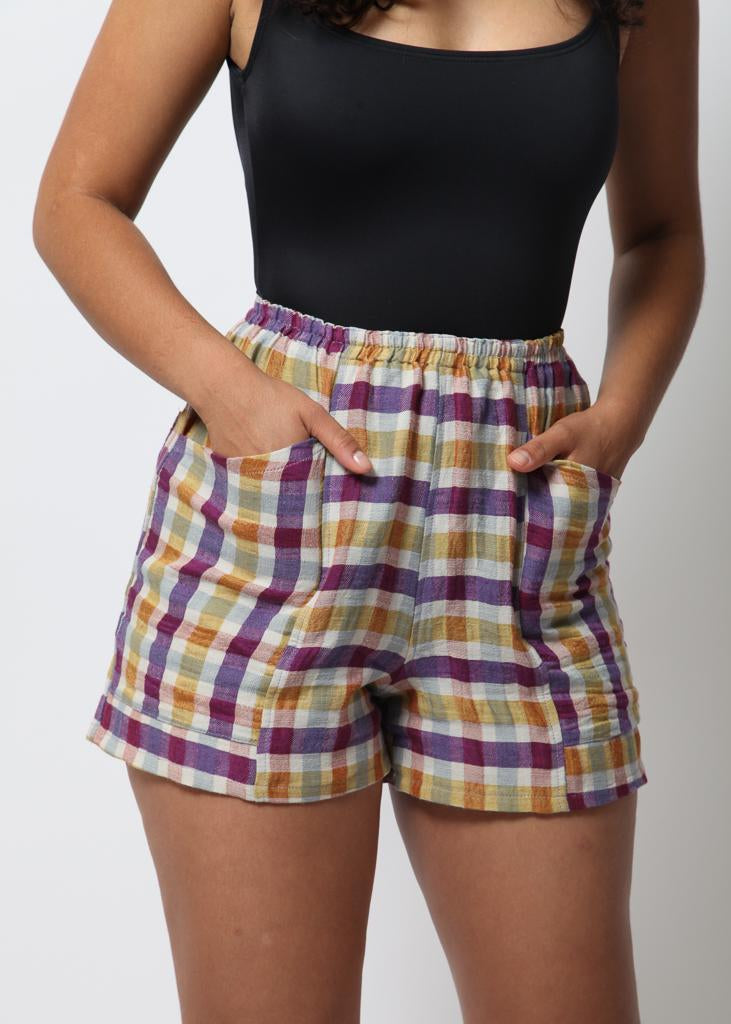Hay Shorts - Spring  Plaid