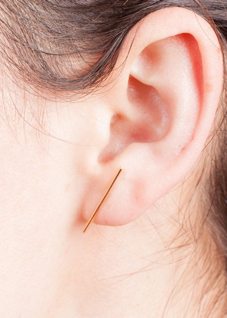 14K Stick Earring - sold individually