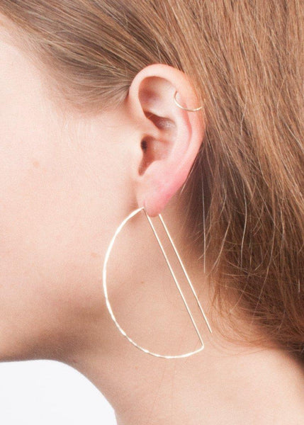 Large Deco Hoops - earrings