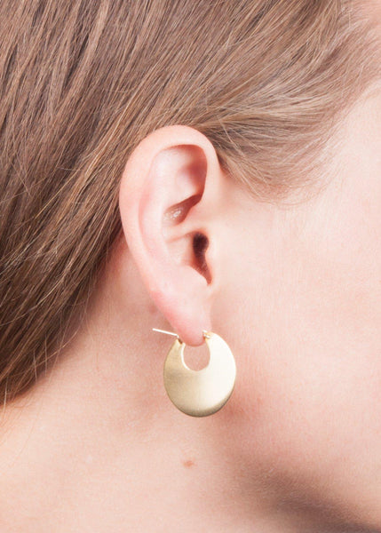 "Disc Hoops 1"" - earrings"
