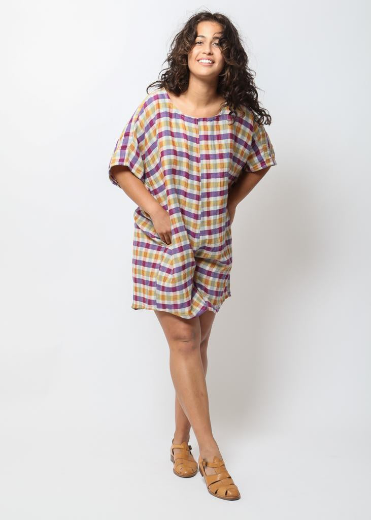 Rancho Romper - Spring Plaid