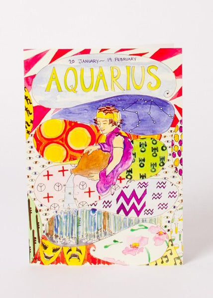 Zodiac Card - Aquarius