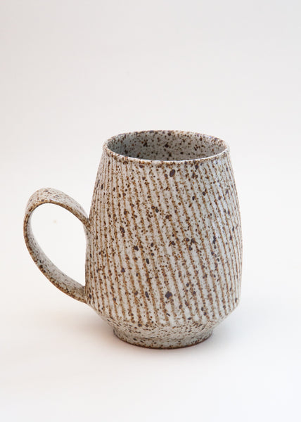 Carved Mug White - Swirl Stripe