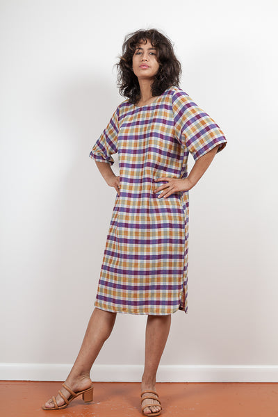 Anim Dress - Spring Plaid