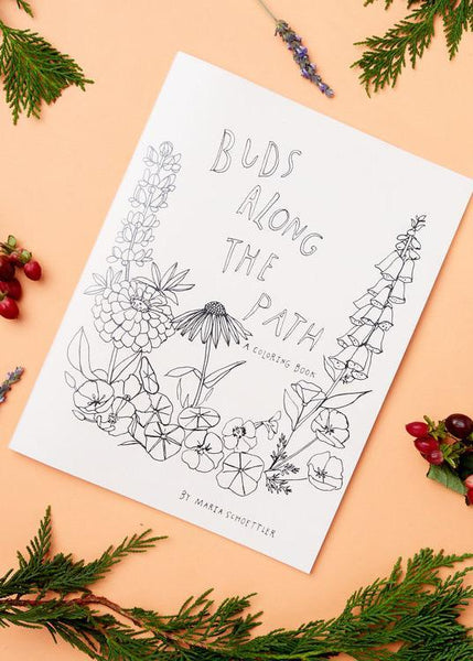 Buds Along The Path Coloring Book - Maria Schoettler