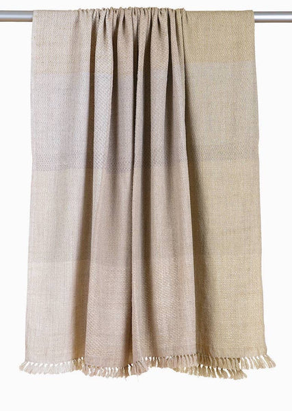 Handwoven Throw - Cream Ombre