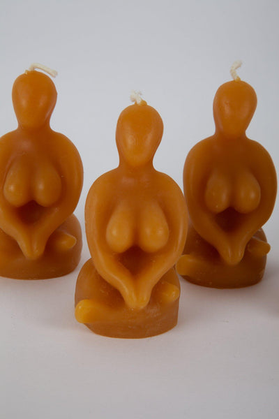Sitting Woman Beeswax Candle - Sitting Woman