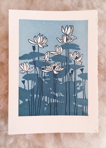 Water Lilies Card - Saturn Press