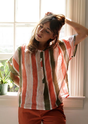 peasant style sheer top made in california from gravelandgold.com