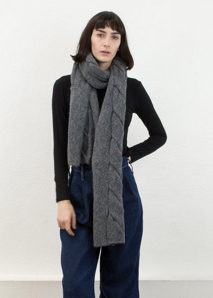 Twist Scarf - Grey Micaela Greg