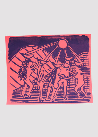 Moon Ladies Risograph