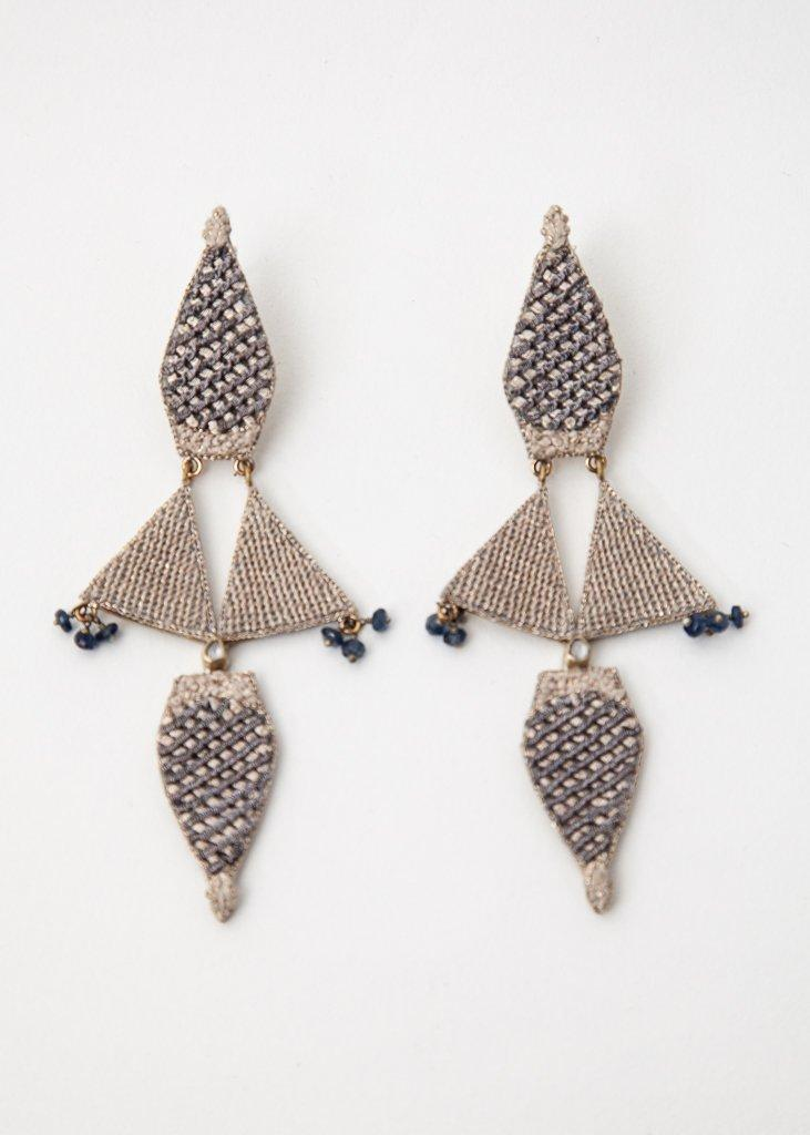 Large Embroidery Earring - 43