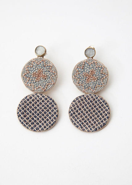 Large Embroidery Earring - 45