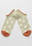 Sage Polka Dot Ankle Sock