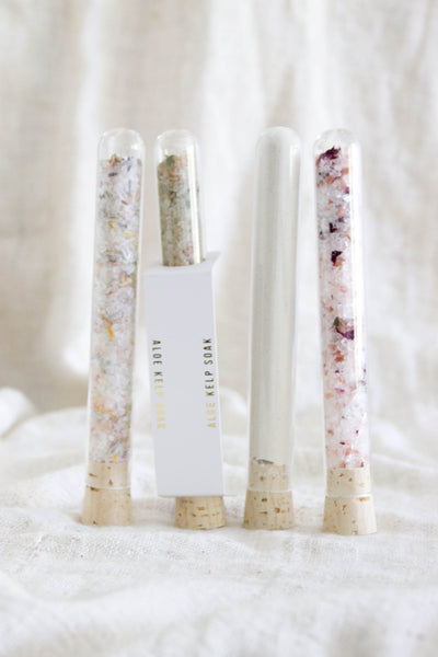 Salt Soak Test Tubes - Aloe Kelp