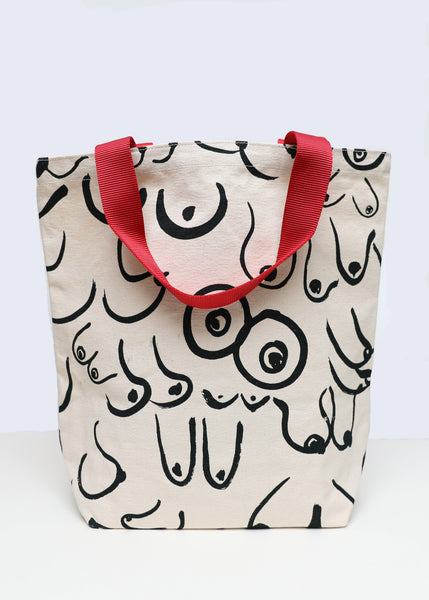 The Boobs Tote // White