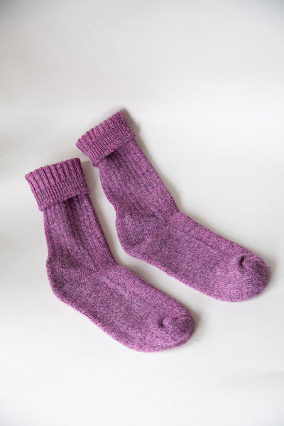 Countryside Socks Crimson Rose