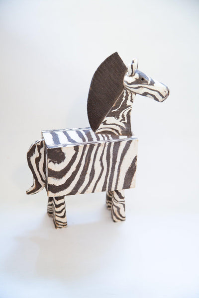 Large Zebra - marbled clay