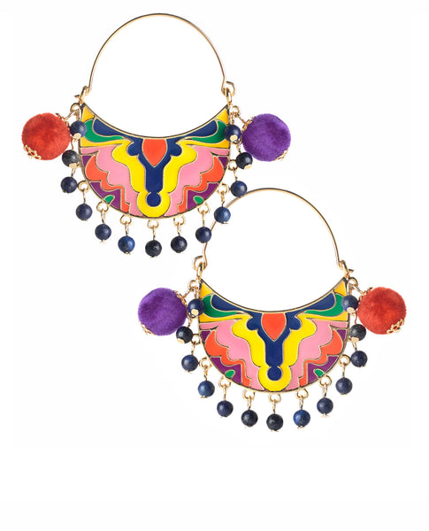 Karmageddon Pom Pom Earrings