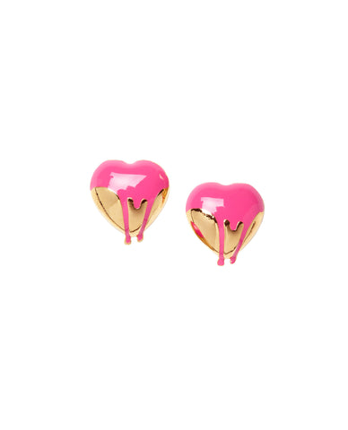 Painted Heart Ear Studs