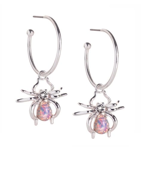 Spider Hoop Earrings