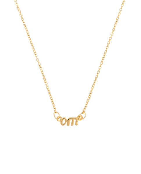Om Necklace Gold