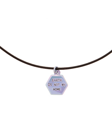 Earth Is Not My Home Cord Necklace