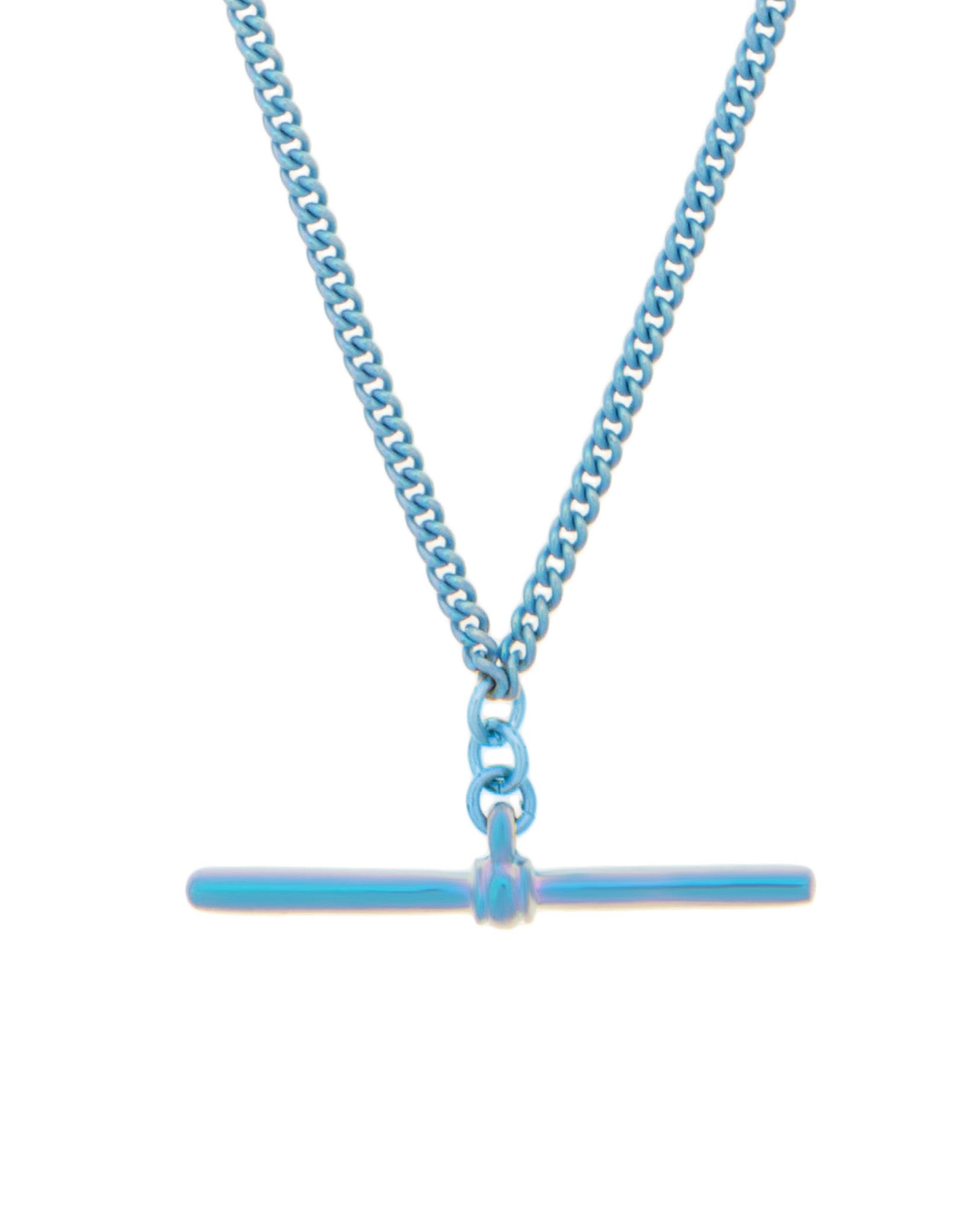 T-Bar Necklace Blue