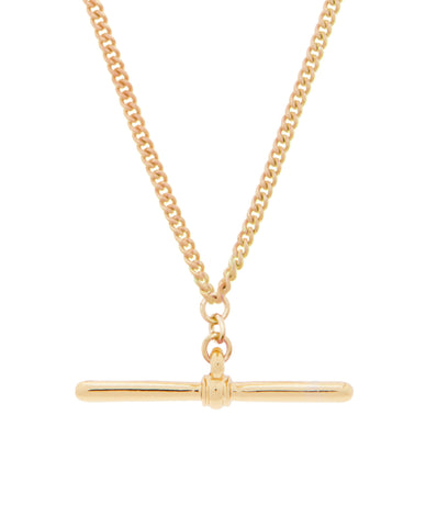 T-Bar Necklace Gold