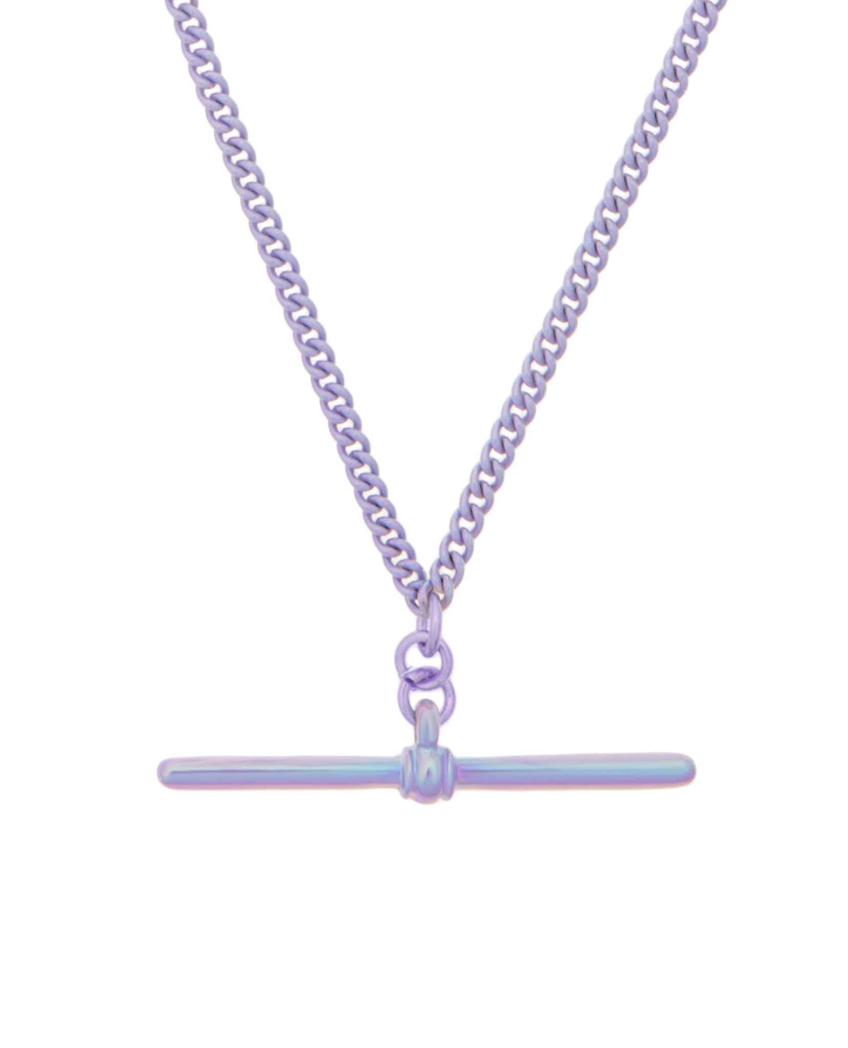 T-Bar Necklace Lilac