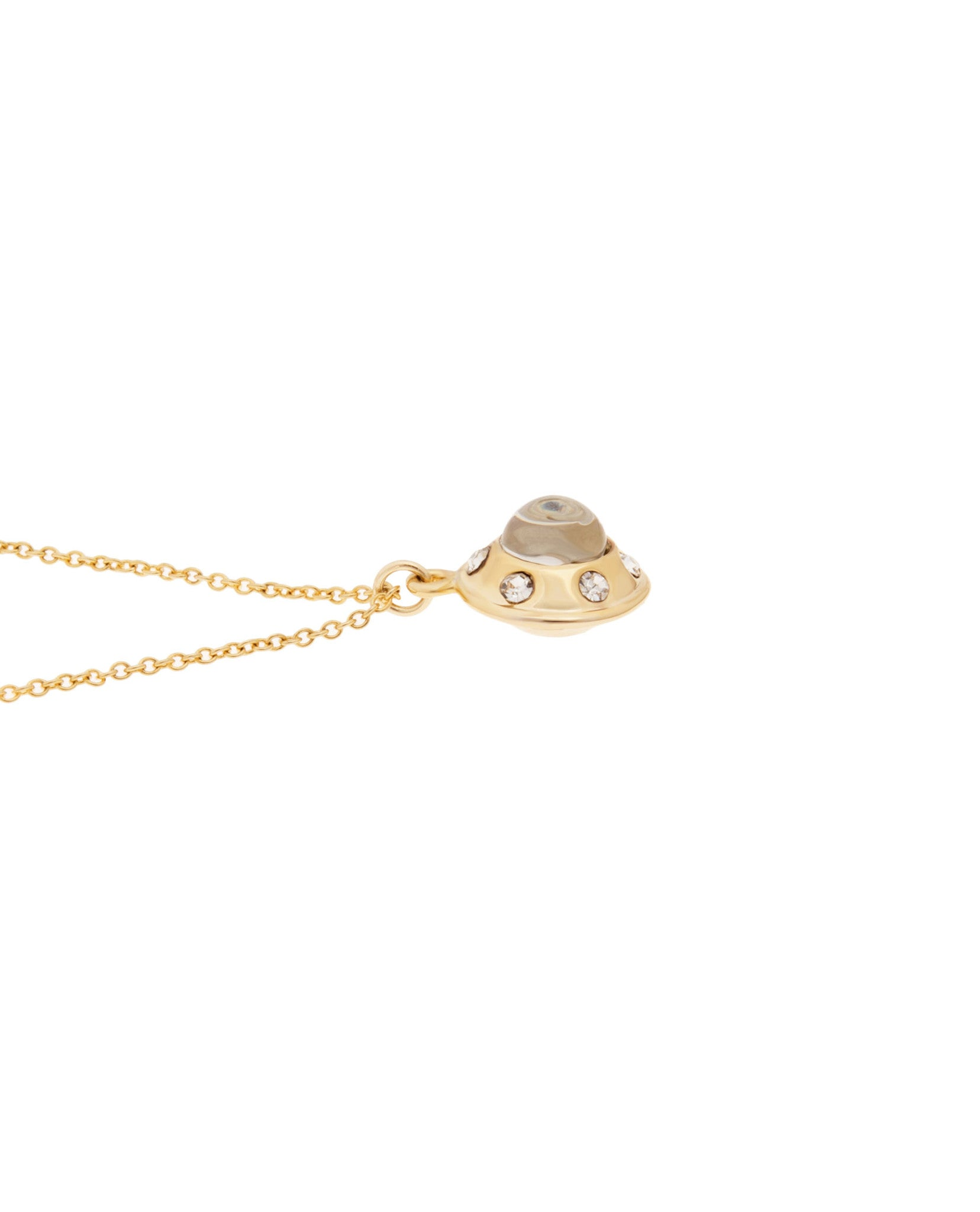Mini UFO Necklace Gold