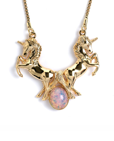 Unicorn Opal Stone Necklace