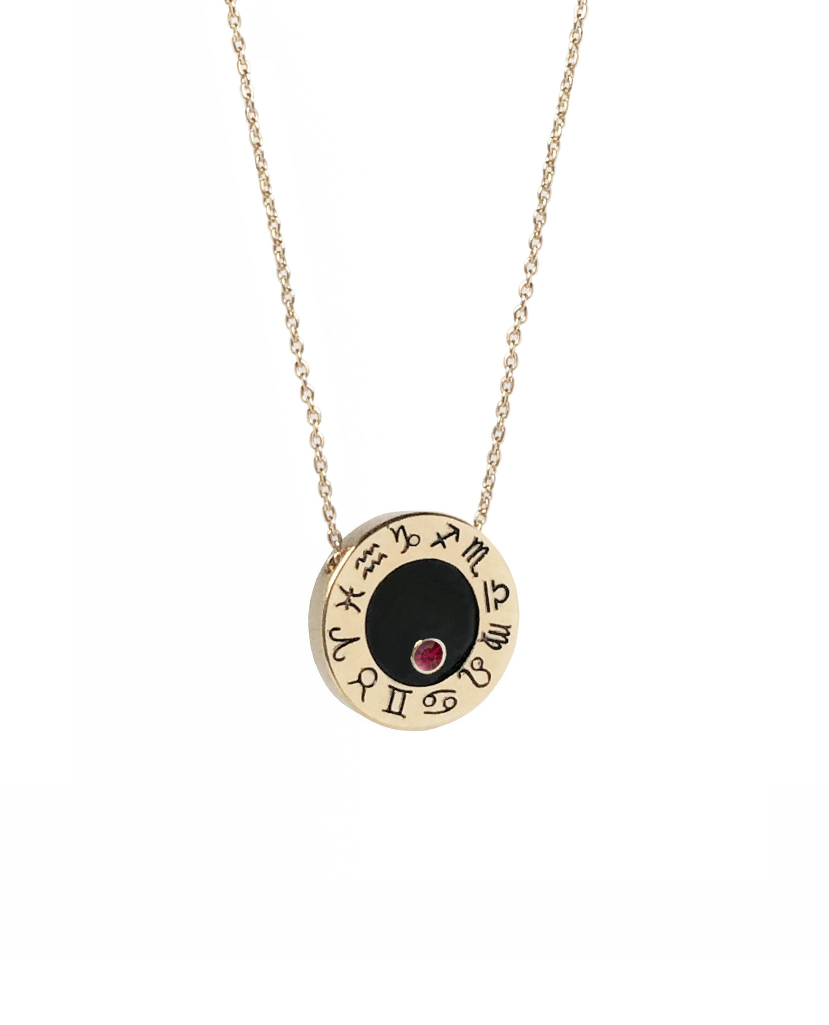 Cancer Ruby Zodiac Birthstone Necklace
