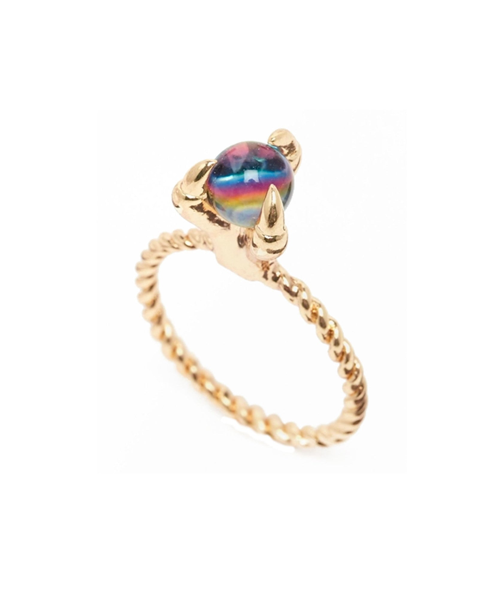 Crystal Ball Claw Ring