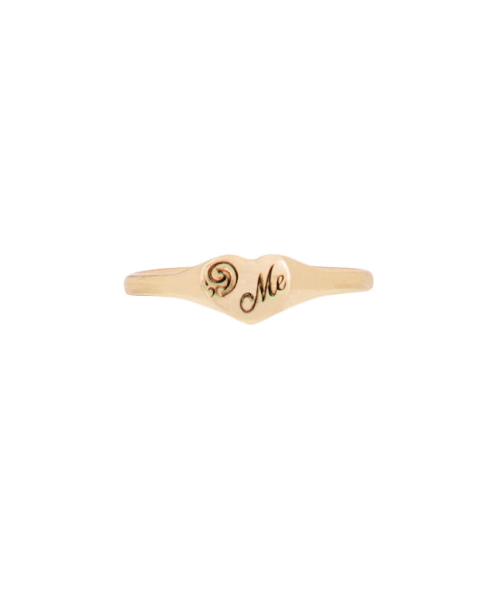 'Me' Heart Signet Ring