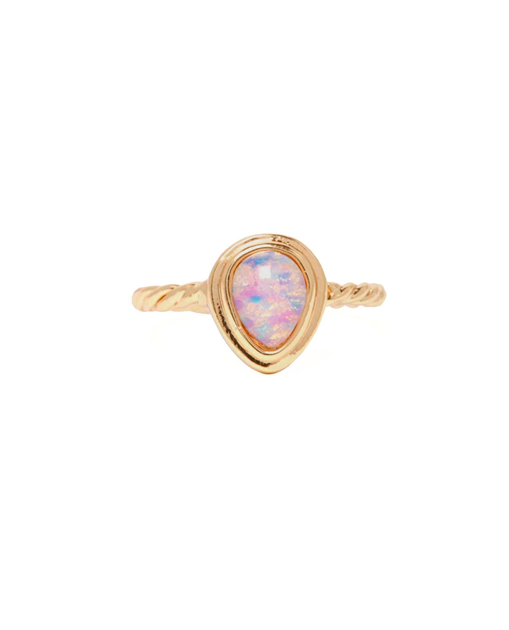 Opal Tear Drop Stone Ring