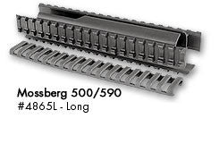 Ergo Mossberg 500/590 Rail Foreend, Long Black