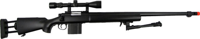 WELL MB4405 M24 Rifle w/ Scope+Bipod BLK