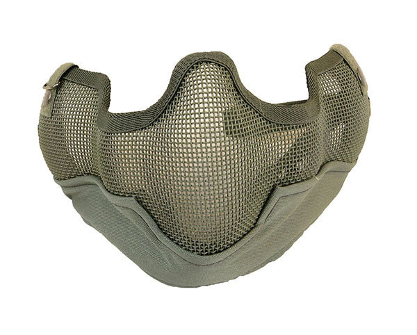 UKARMS V2 Metal Mesh Mask w/ Ear Pro Green