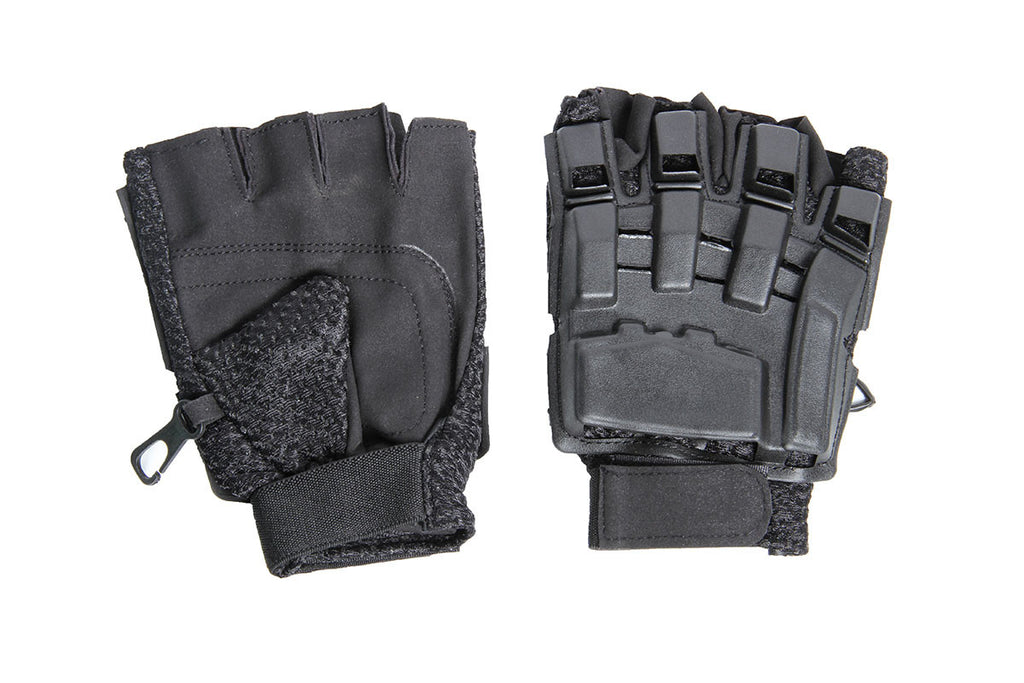 Lancer Tactical Half Finger Armor Gloves