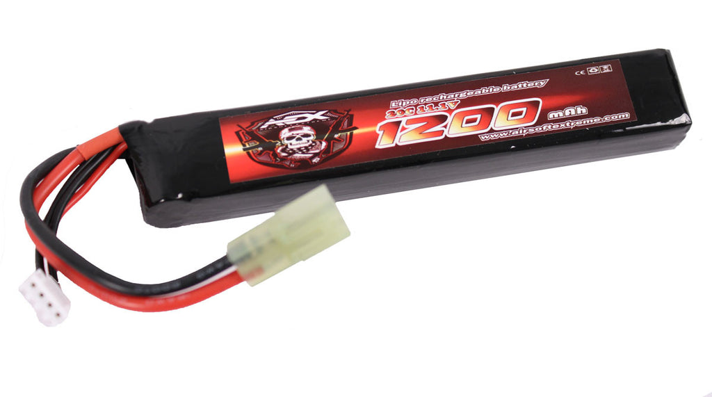 AEX 11.1v 1200 mah 20C LiPo Buffer Tube Battery