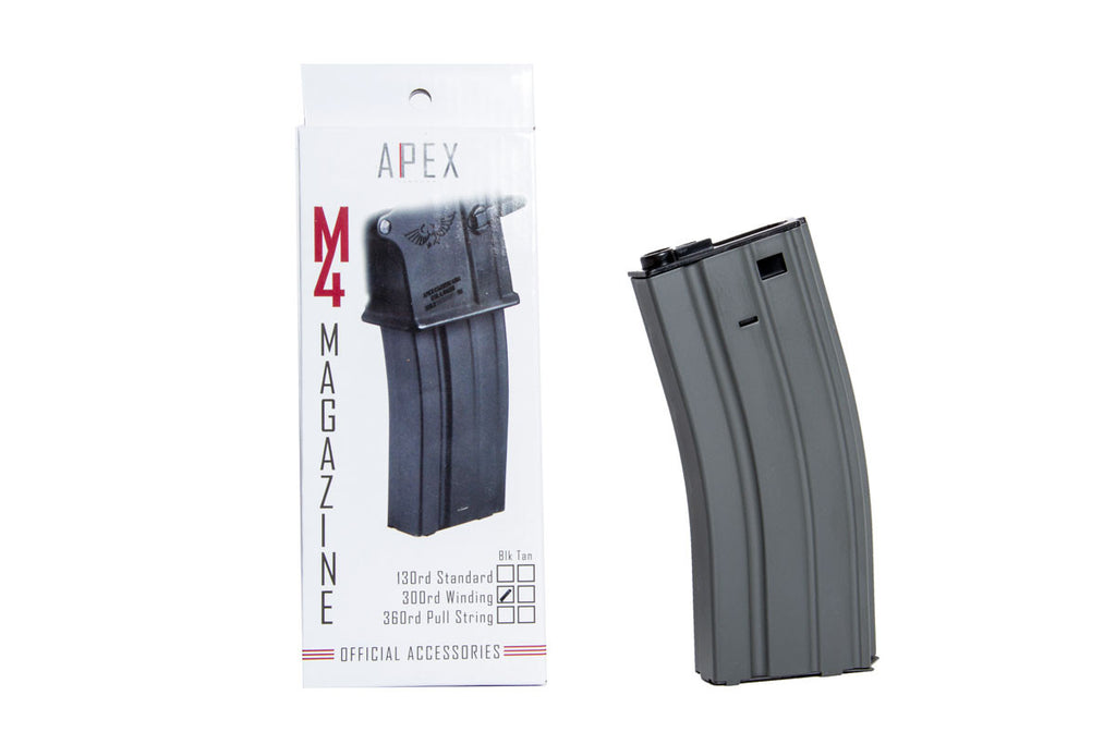 APEX 300 round winding magazine - Black
