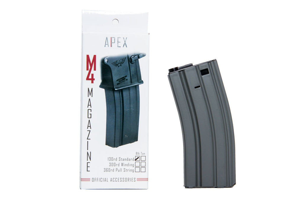 APEX 130 round capacity magazine, Black