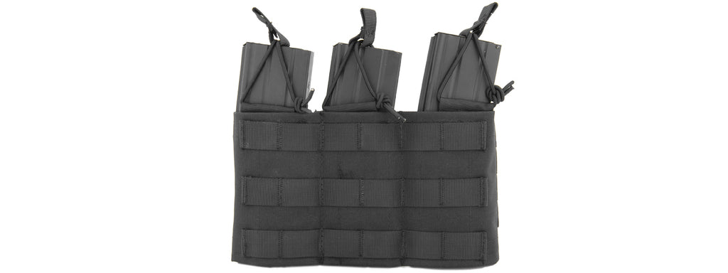 Lancer Tactical Molle Bungee Triple Mag Pouch w/ Variable Depth