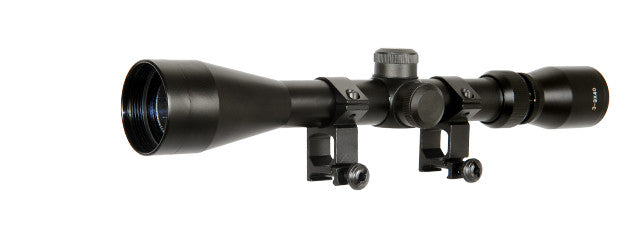 Lancer Tactical CA-408B 3-9x40 Rifle Scope w/Rings