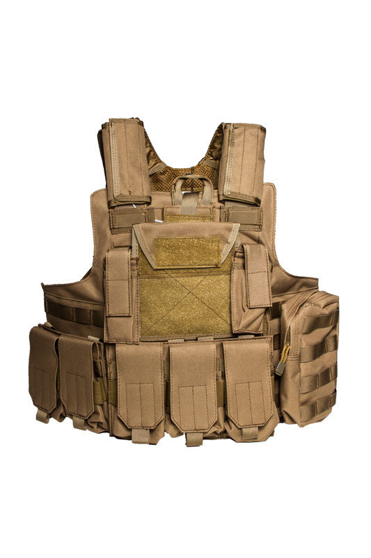 Lancer Tactical Strike Plate Carrier TAN