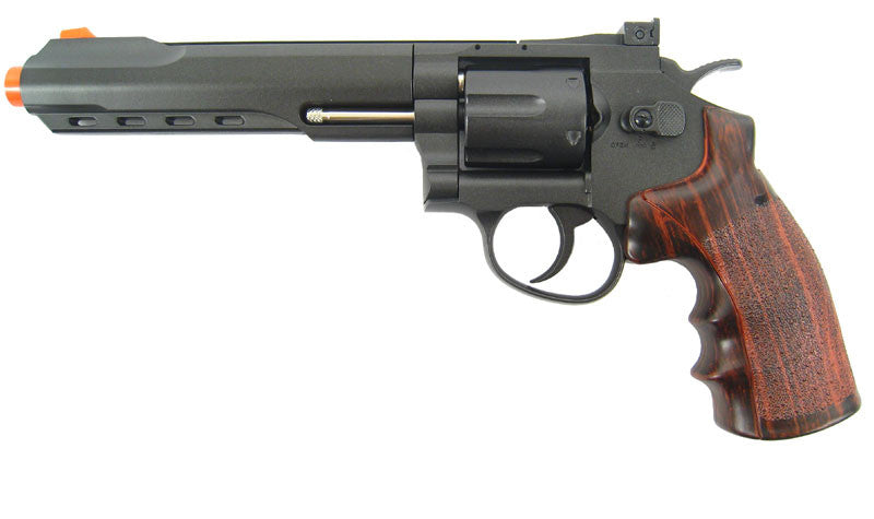 "KJW Full Metal 6"" C02 Revolver - Black"