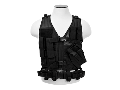 NC Star Cross Draw Tac Vest, Small, BLK